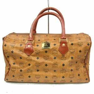 MCM Boston Bag Browns PVC 871066